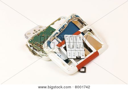 Teléfono celular descompuesto