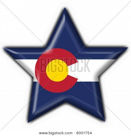 Colorado (usa State) Button Flag Star Shape