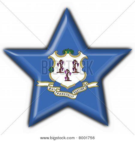 Connecticut (estado de Estados Unidos) botón bandera estrella forma