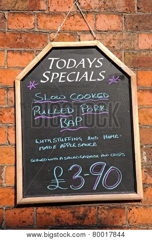 Todays Specials Chalkboard.