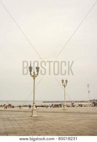 Plaza Del Milenio In Mar Del Plata