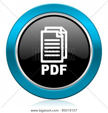 pdf glossy icon pdf file sign
