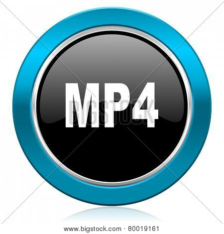 mp4 glossy icon