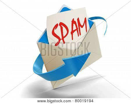 Letter SPAM (clipping path included)