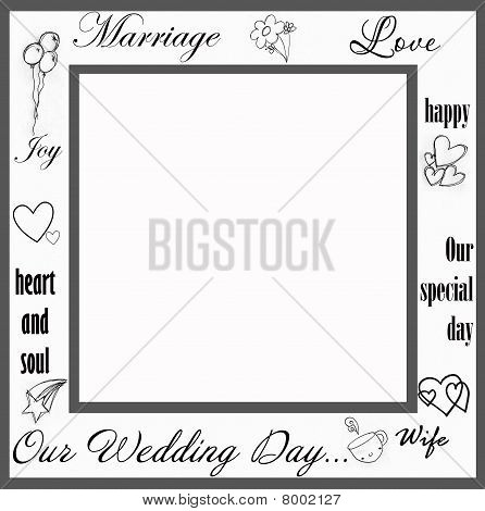 Wedding retro frame