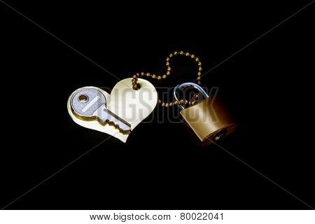 Key, Heart,  Lock -  Symbol Of Love And Devotion