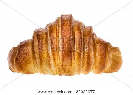 Delicious Croissant For Breakfast. On A White Background.
