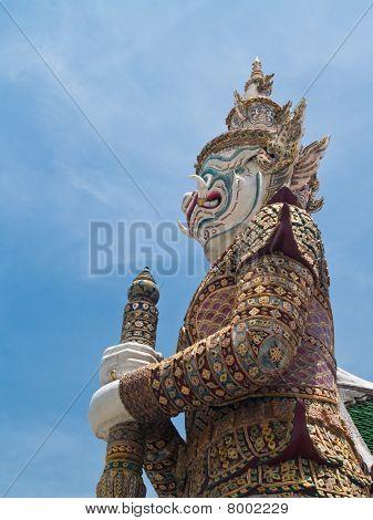 Statues Of White Mythological Giants