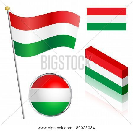 Hungarian Flag Set