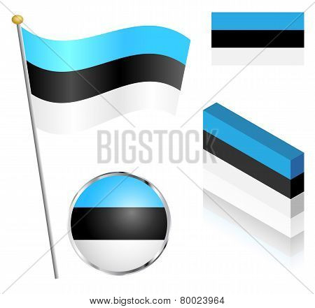 Estonian Flag Set