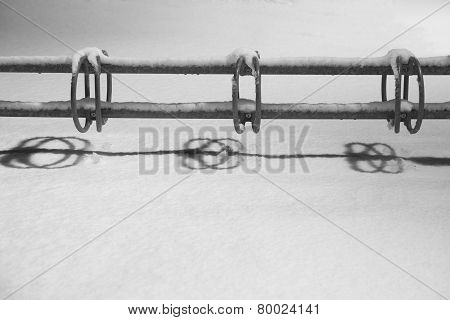 Bicycle Rack After Snow Storm