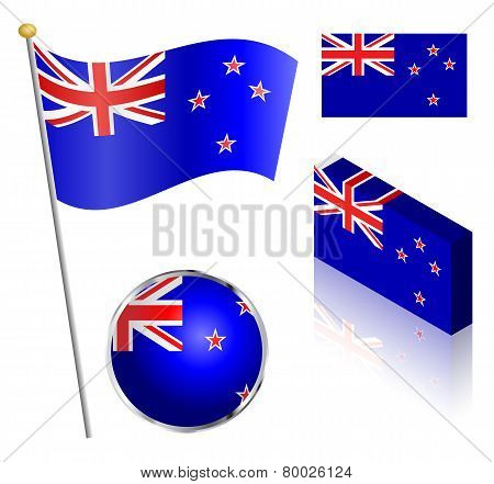 New Zealand Flag Set