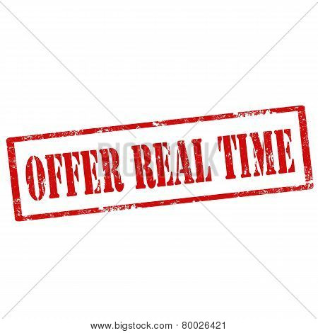 Offer Real Time-stamp