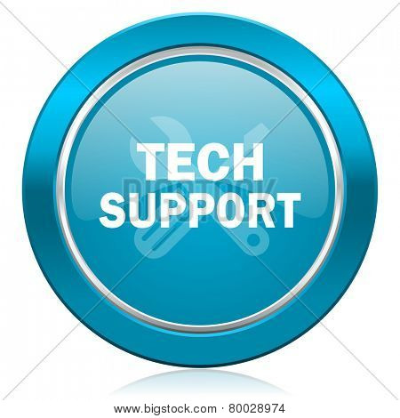 technical support blue icon