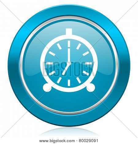 alarm blue icon alarm clock sign
