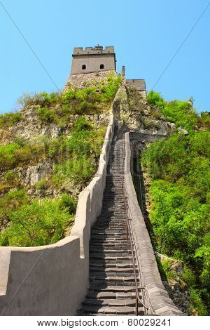 Famous Great wall near Beijing, China