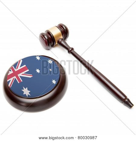 Judge Gavel And Soundboard With National Flag On It - Australia