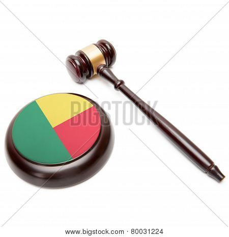 Judge Gavel And Soundboard With National Flag On It - Benin