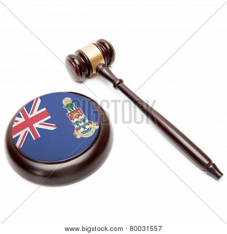 Judge Gavel And Soundboard With National Flag On It - Cayman Islands