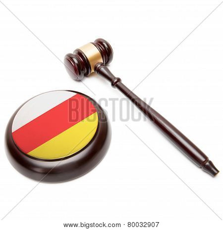 Judge Gavel And Soundboard With National Flag On It - South Ossetia