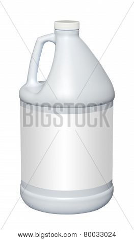 Gallon plastic jug, isolated
