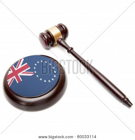 Judge Gavel And Soundboard With National Flag On It - Cook Islands