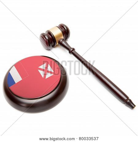 Judge Gavel And Soundboard With National Flag On It - Wallis And Futuna