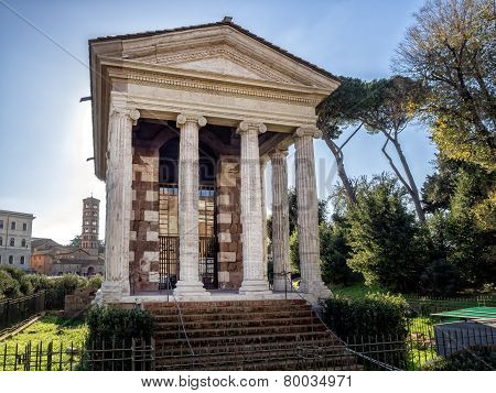 Temple Of Fortuna Virilis Or Temple Of Portunus In Rome