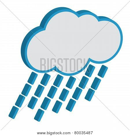 Cloud with raindrops weather forecast vector icon.EPS10