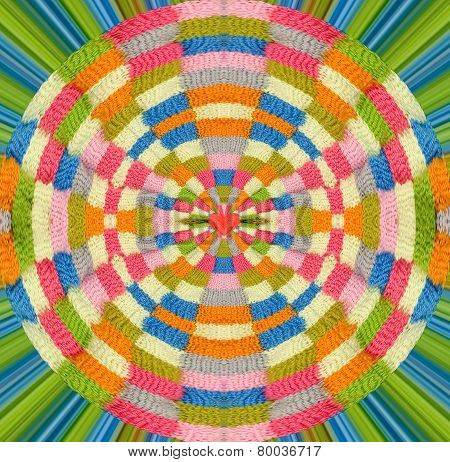 Abstract love to knit design