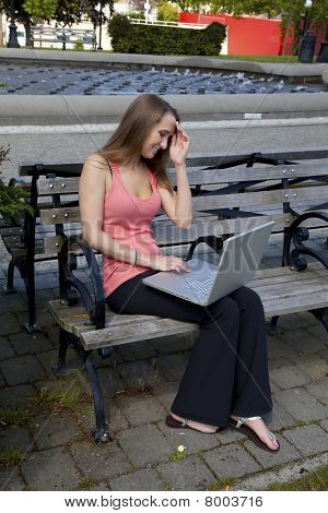 Thinking Computer On Bench