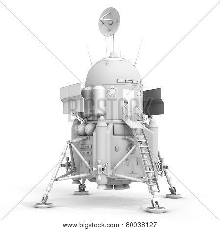 3D Detailed Lunar Landing Module