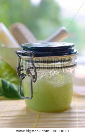 Jar Of Body Scrub