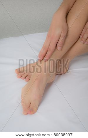 Close Up View Of Smooth Woman Feet