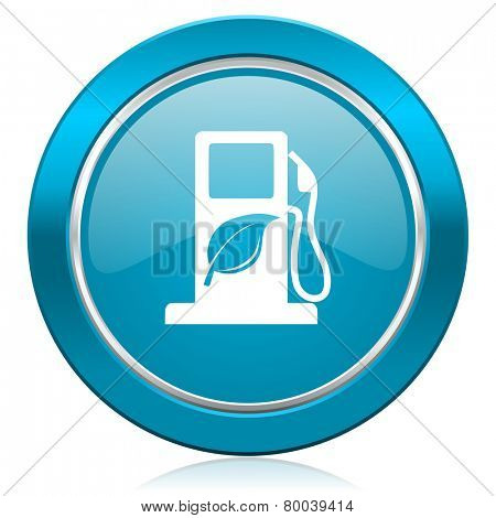 biofuel blue icon bio fuel sign