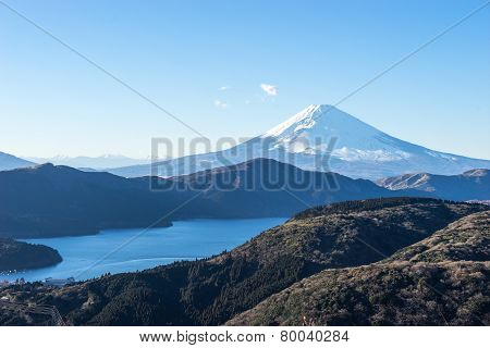 Mt. Fuji and Lake Ashi