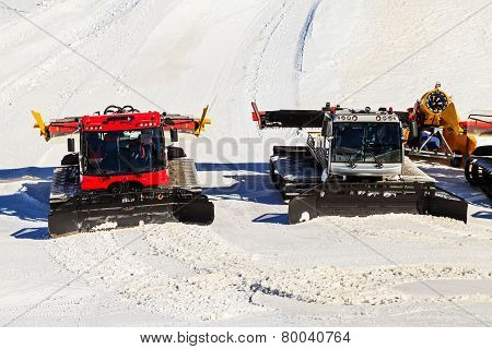 Preparing Ski Slope