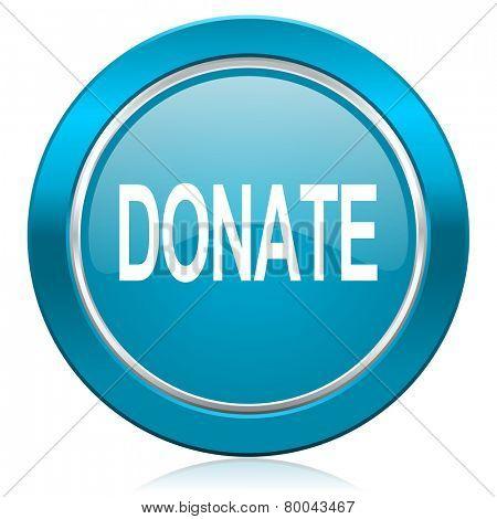 donate blue icon