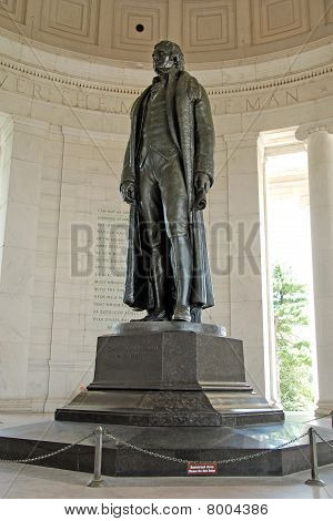 Statue of Thomas Jefferson at Jefferson Memorial