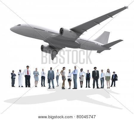 Travel Business People Airplane Diversity Trip Flight Concept