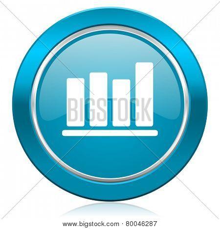 bar chart blue icon
