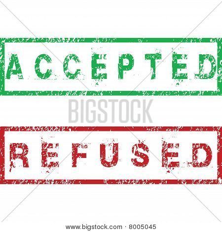 Accepted And Refused Stamps