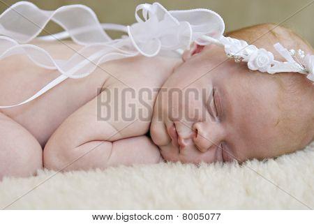 Angelic Sleeping Baby Closeup
