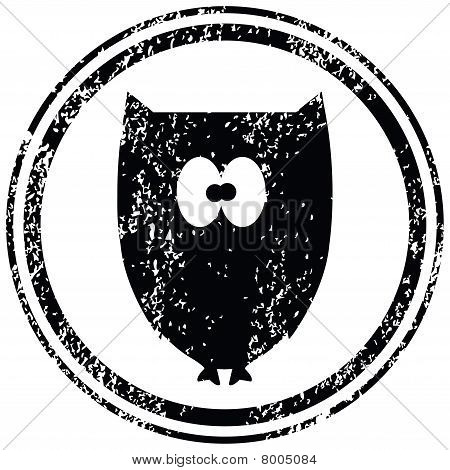 Black Stamp With Owl