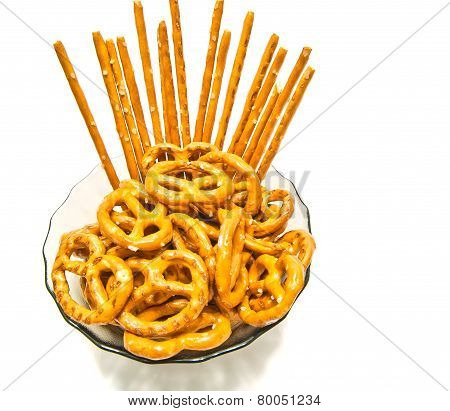 Some Tasty Pretzels And Breadsticks