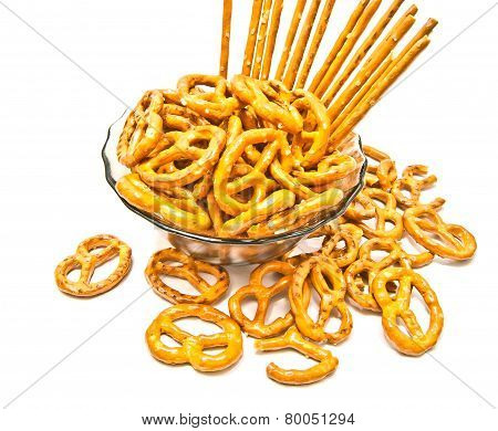 Many Breadsticks And Pretzels