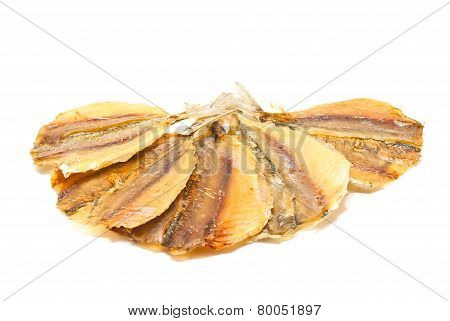 Five Slices Of Smoked Fish