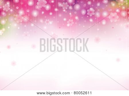Spring blossom pink background with blurred flowers.