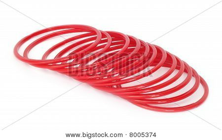 Red glass bracelets