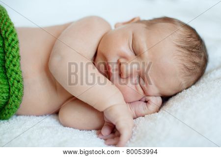 Baby sleeping. Newborn, kid art. Beauty child, boy or girl sleeps